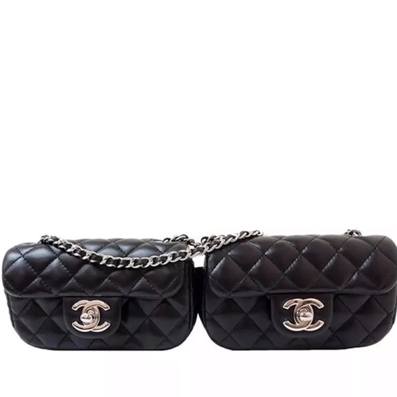 2f8c33eaa4c47e CHANEL Bags | Vintage Double Mini Quilted Crossbody Bag | Poshmark